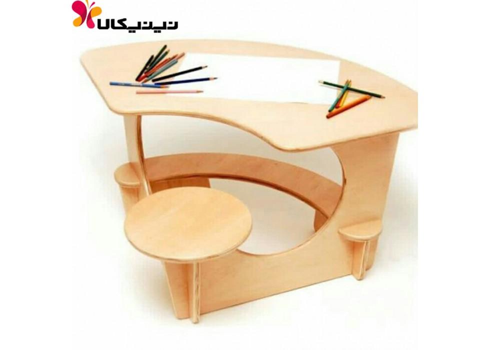 میز تحریر کودک آمیسا مدل نوین