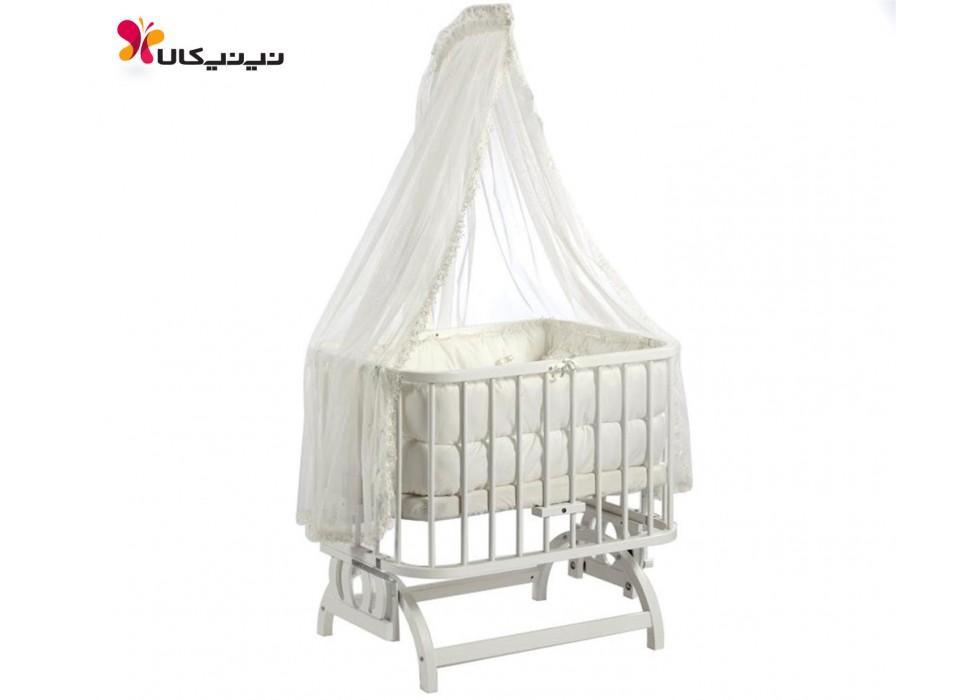 تخت نوزاد کنار مادر بی بی تچ BabyTech رنگ سفید