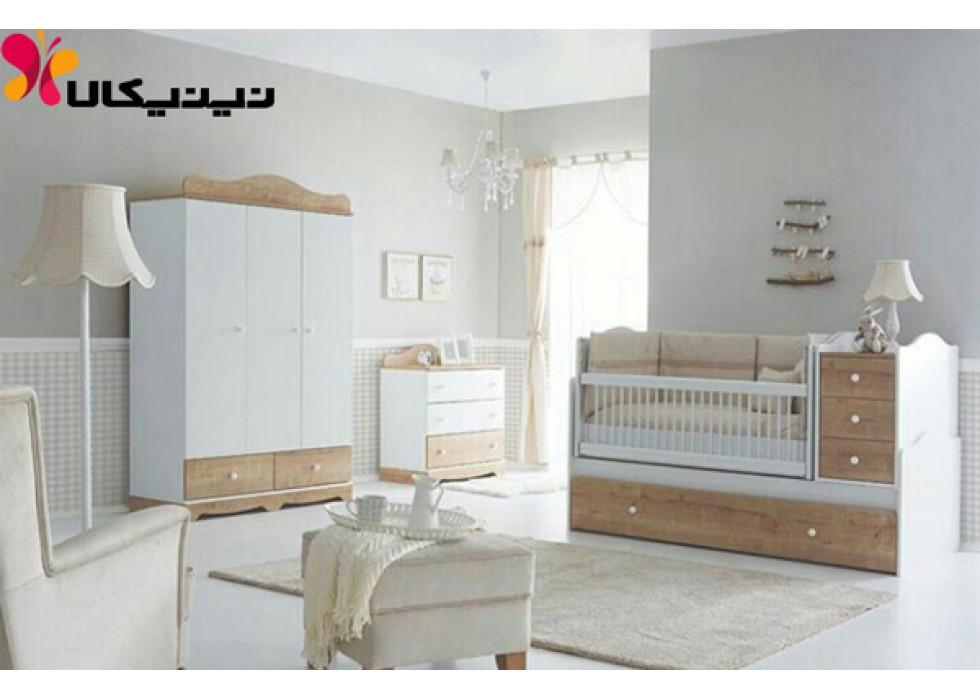 سرویس خواب سه منظوره نوزاد و نوجوان آمیسا مدل افرا