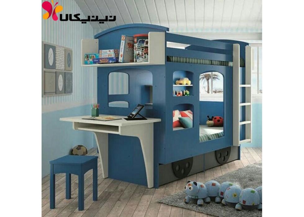 تخت دو طبقه کودک آمیسا مدل قطار
