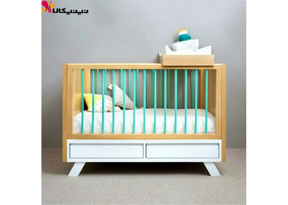 تخت نوزاد آمیسا مدل سامانتا