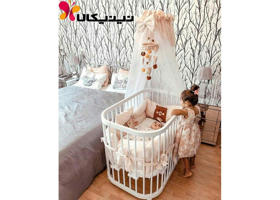 تخت نوزاد آمیسا مدل ماشا