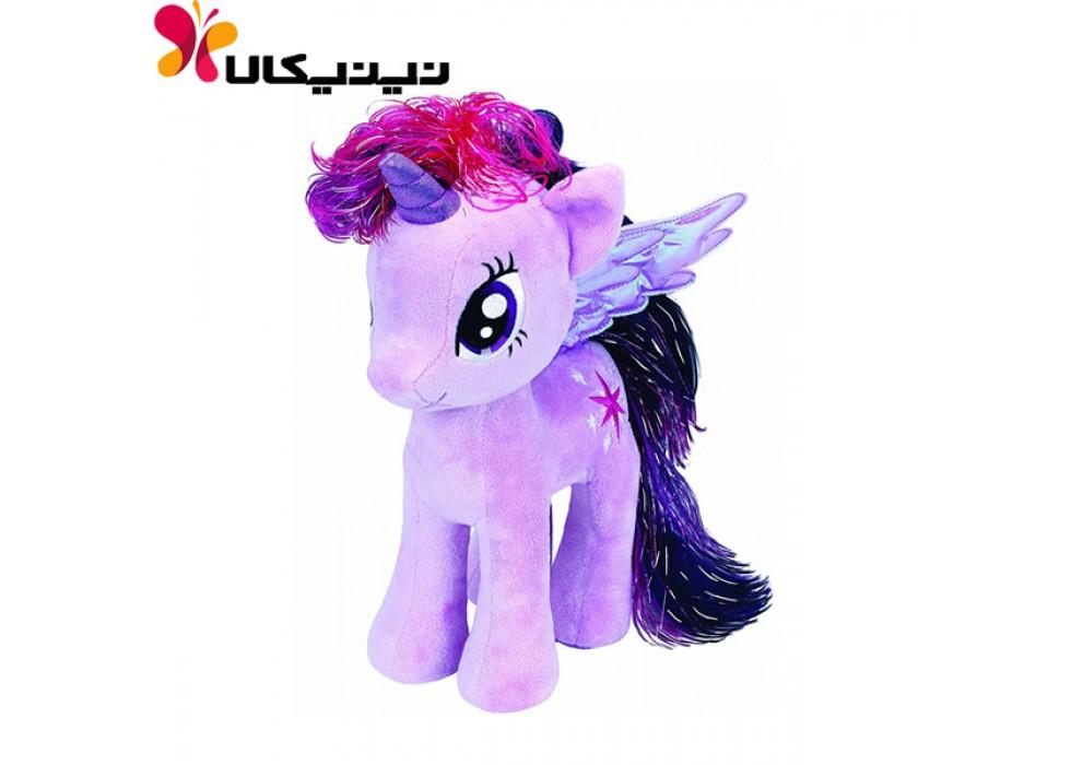 عروسک پولیشی اسب پونی رنگ بنفش