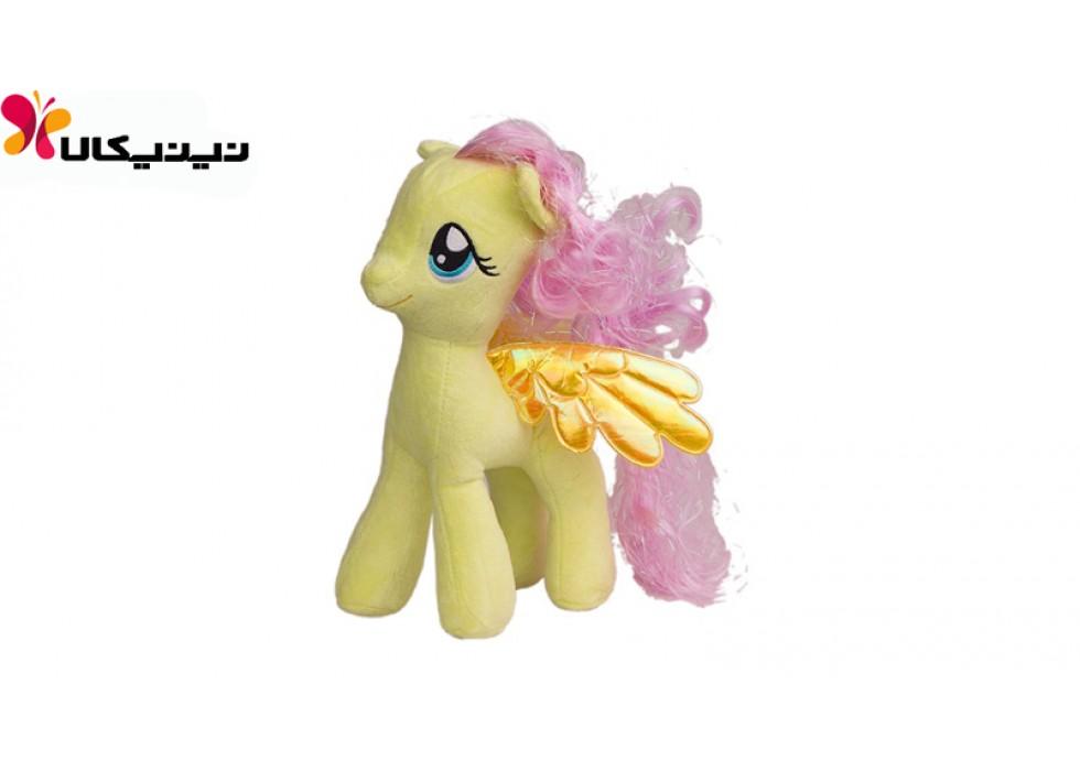عروسک پولیشی اسب پونی رنگ زرد