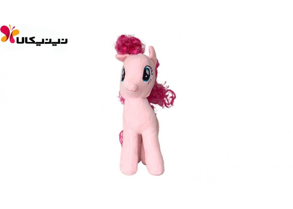 عروسک پولیشی اسب پونی رنگ صورتی