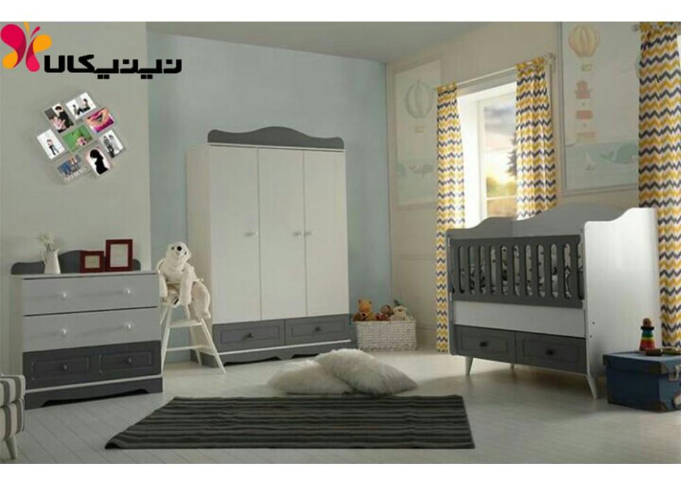 سرویس خواب نوزاد آمیسا مدل پارسیان