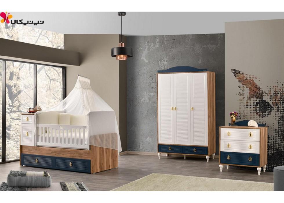 سرویس خواب نوزاد و نوجوان آمیسا مدل روما