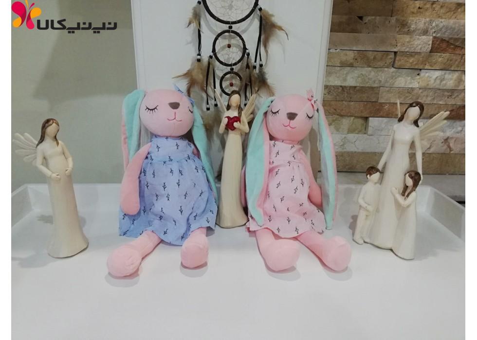 عروسک پولیشی خرگوش مدل چشم بسته
