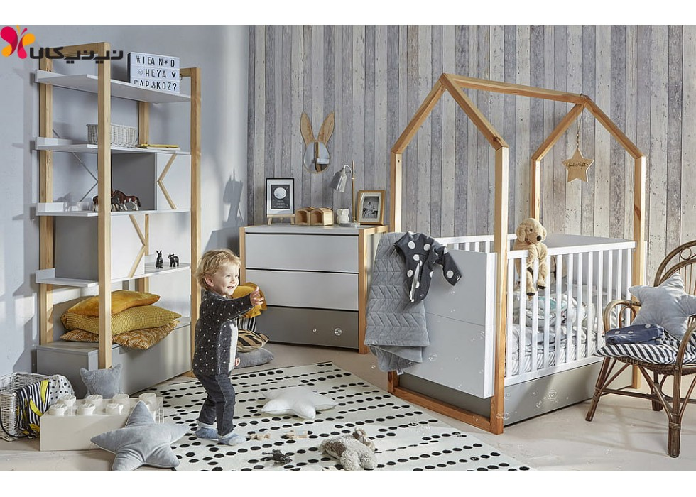 سرویس خواب نوزاد و کودک آمیسا مدل دلبر