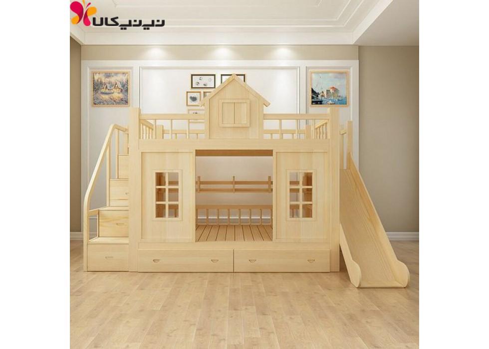 تخت خواب دو طبقه آمیسا مدل آشیان