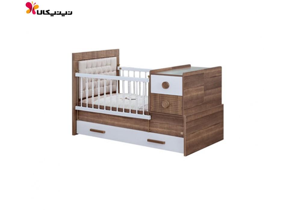 تخت خواب نوزاد و نوجوان آپادانا مدل آلفا