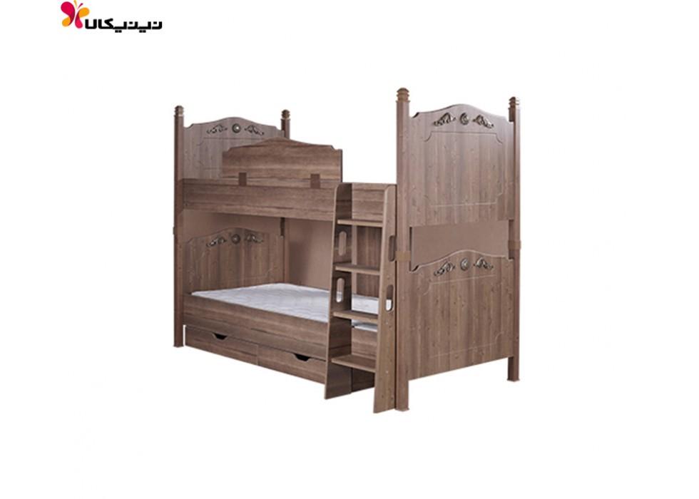 تخت خواب دو طبقه آپادانا مدل کینگ