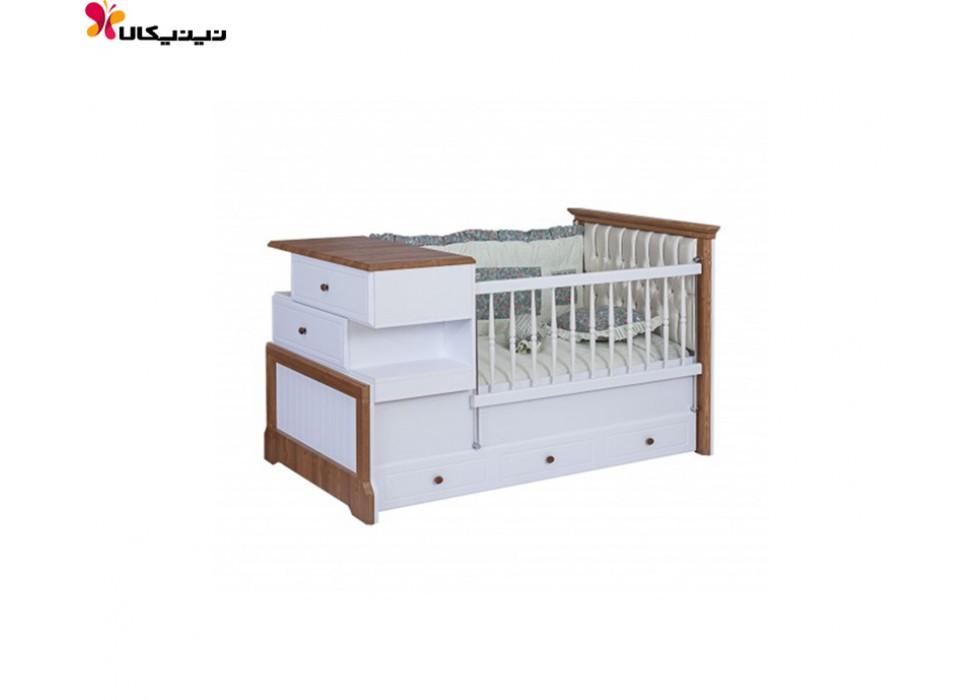 تخت خواب نوزاد و نوجوان آپادانا مدل پابلو