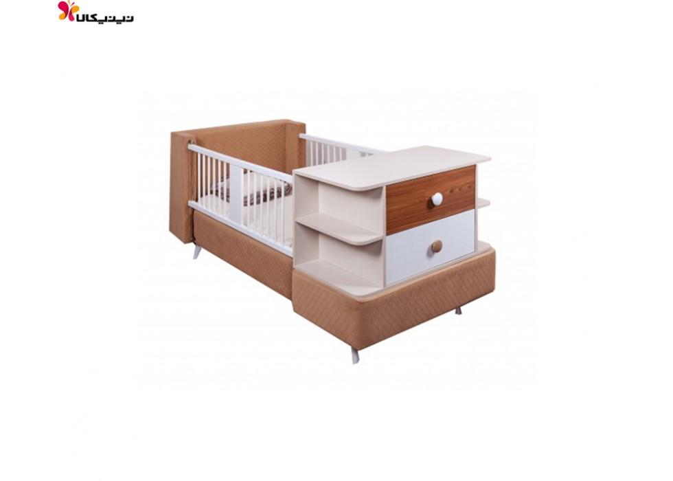 تخت خواب نوزاد و نوجوان آپادانا مدل برفی