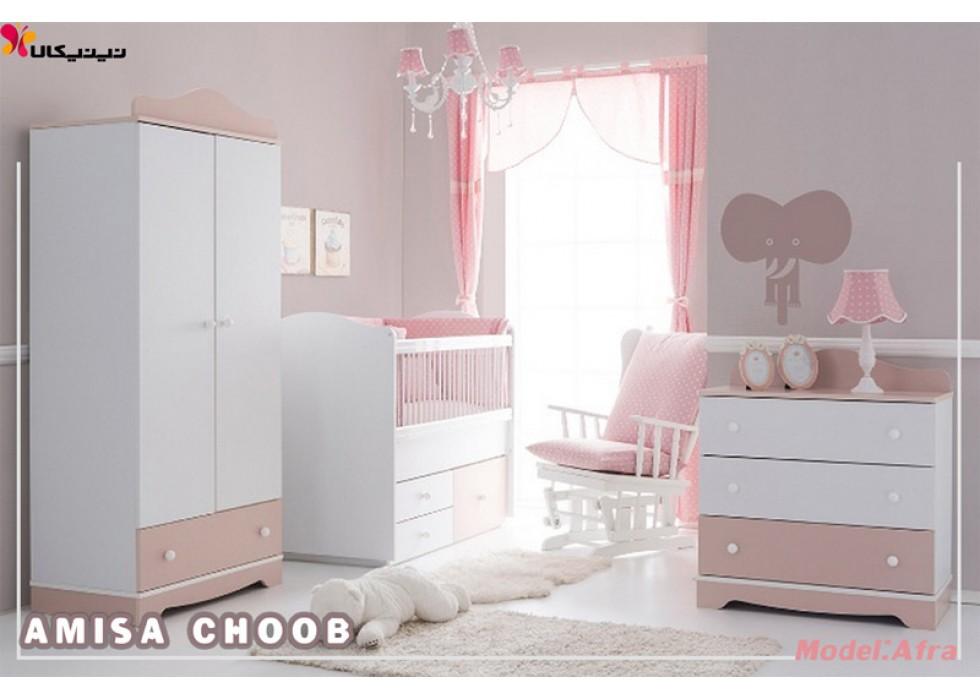 سرویس خواب نوزاد آمیسا مدل افرا