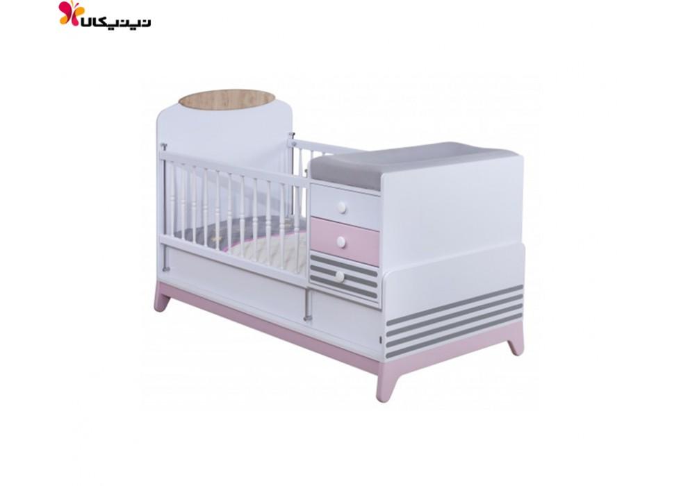 تخت خواب نوزاد و نوجوان آپادانا مدل دلاریس