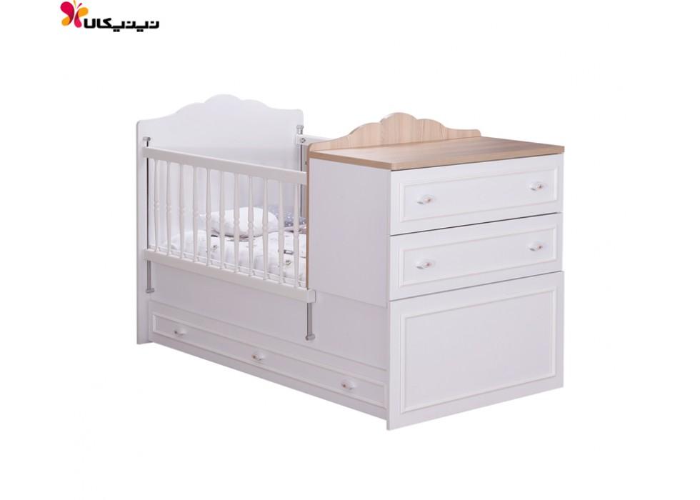 تخت خواب نوزاد و نوجوان آپادانا مدل رونیکا