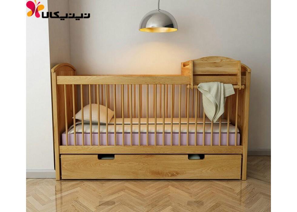 تخت خواب نوزاد آمیسا چوب مدل ماریا