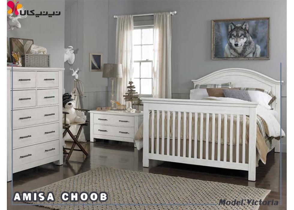 تخت خواب نوجوان آمیسا مدل ویکتوریا