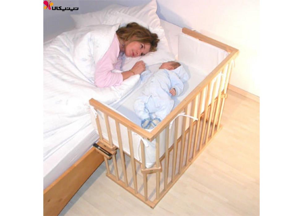 تخت نوزاد کنار مادر آمیسا چوب مدل روشا