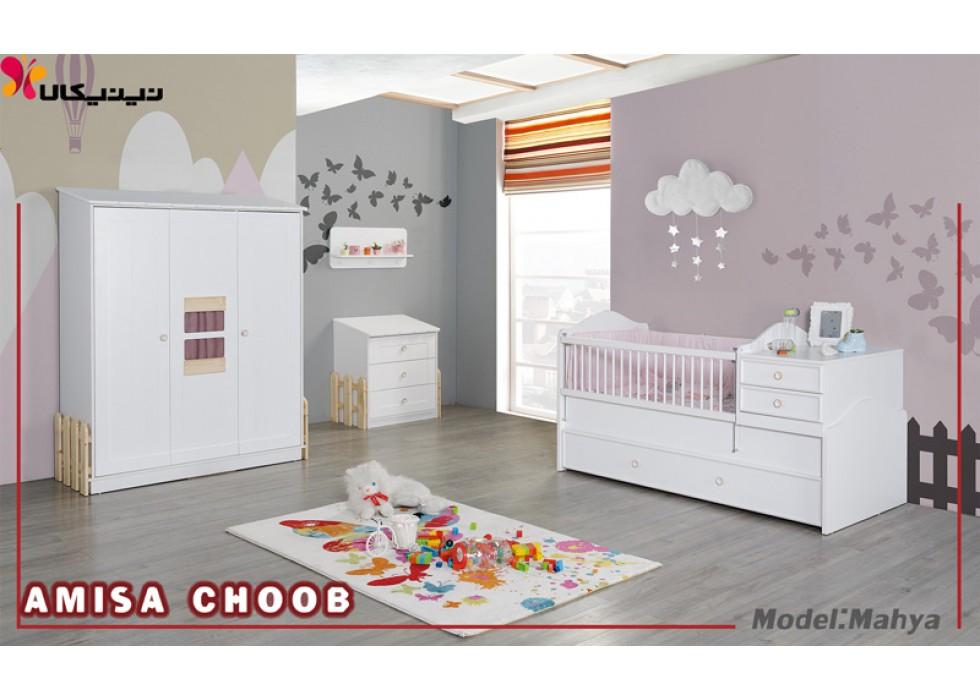 سرویس خواب نوزاد و نوجوان آمیسا مدل محیا