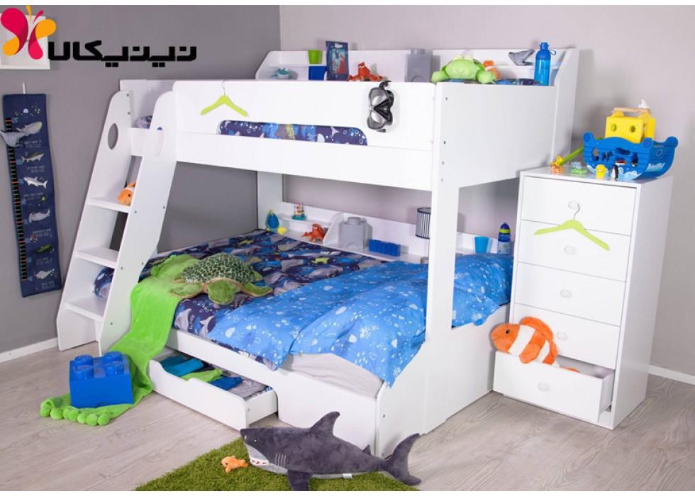 تخت خواب دو طبقه نوجوان و جوان آمیسا مدل ربکا
