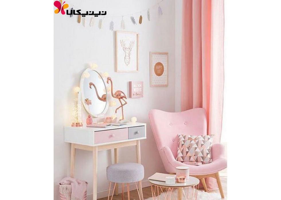 میز آرایش کودک دخترانه آمیساچوب مدل مونیکا