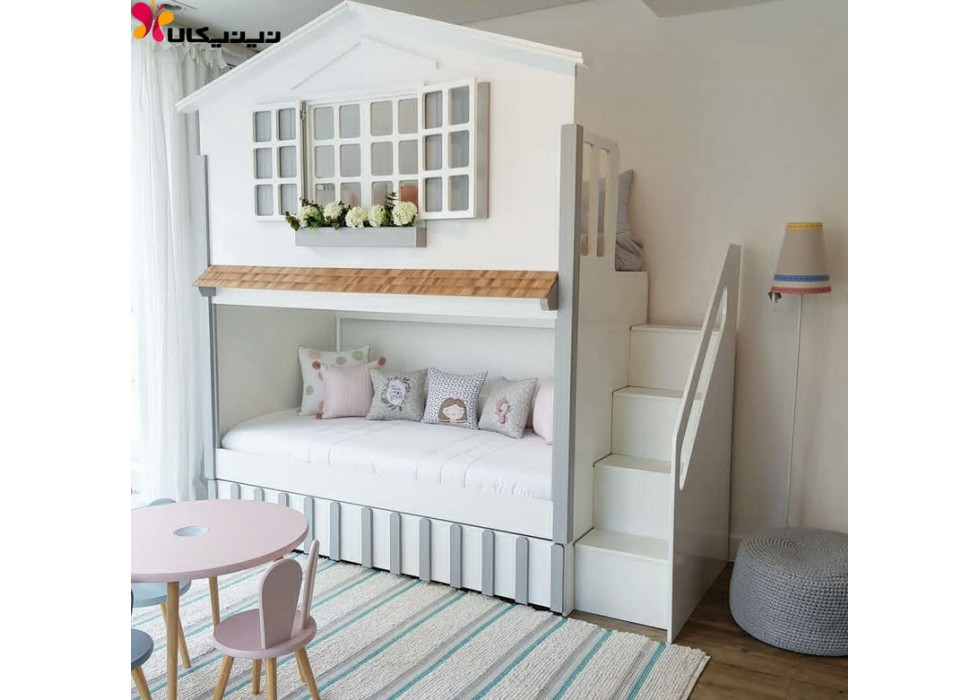 تخت خواب دو طبقه کودک و نوجوان آمیساچوب مدل آندیا