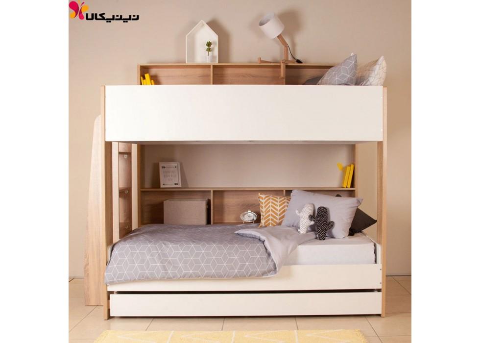 تخت خواب دو طبقه نوجوان و جوان آمیساچوب مدل تابان