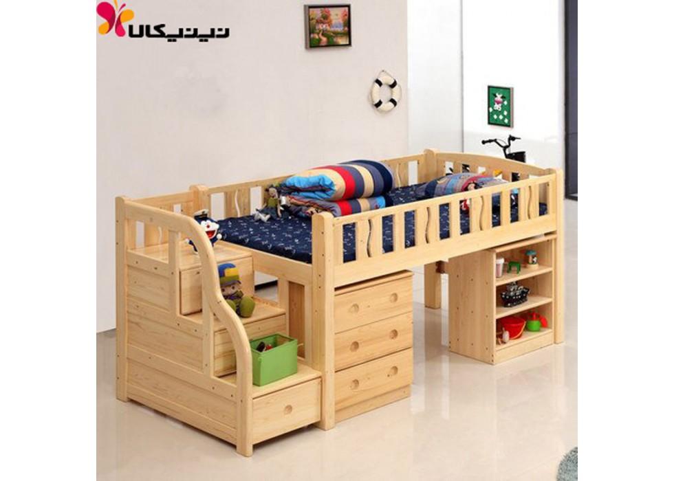 تخت خواب دو طبقه کودک و نوجوان آمیساچوب مدل رایکا