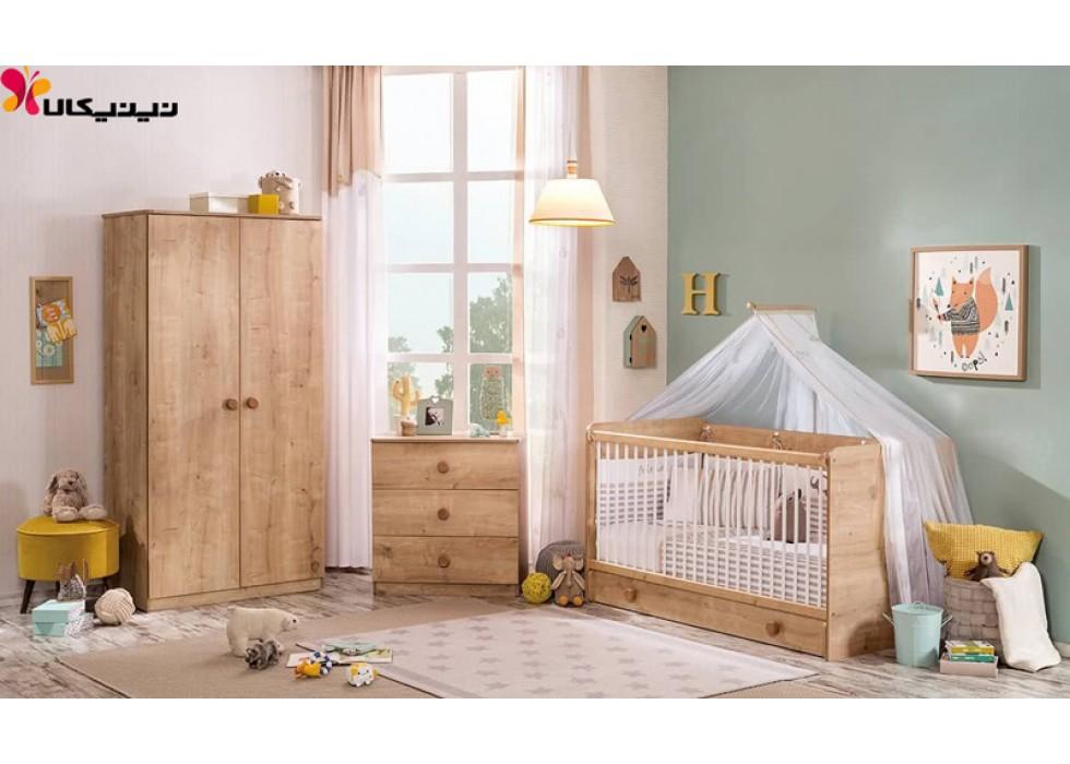 سرویس خواب نوزاد آمیساچوب مدل موکا