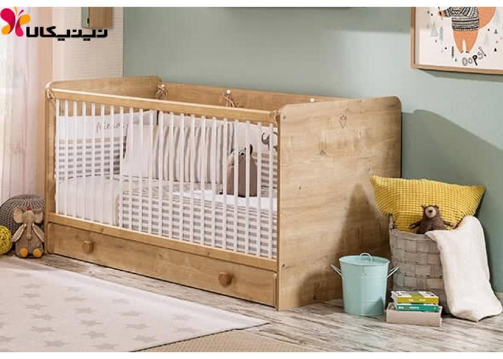 تخت خواب نوزاد آمیساچوب مدل موکا