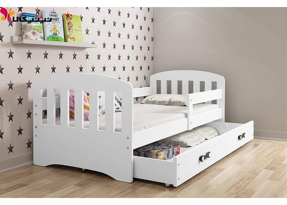 تخت خواب کودک و نوجوان آمیساچوب مدل برسام