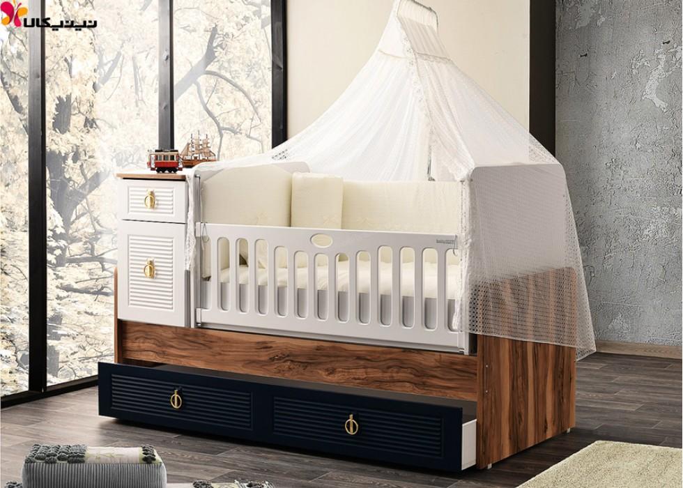 تخت خواب نوزاد و نوجوان آمیساچوب مدل روما