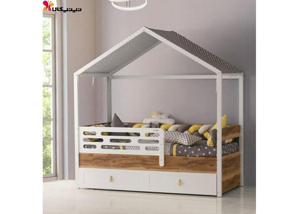 تخت خواب کلبه ای کودک آمیساچوب مدل روما