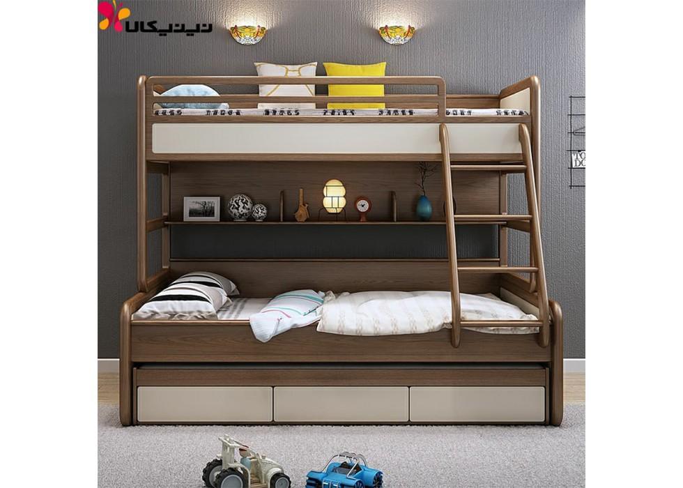 تخت خواب دو طبقه کودک و نوجوان آمیساچوب مدل راشل
