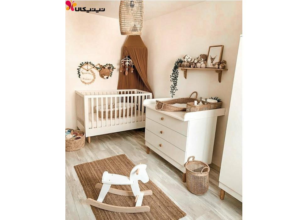 سرویس خواب نوزاد آمیساچوب مدل کارامل