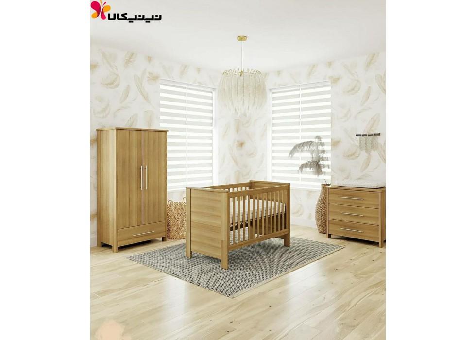 سرویس چوبی نوزاد و نوجوان آمیساچوب مدل هایما