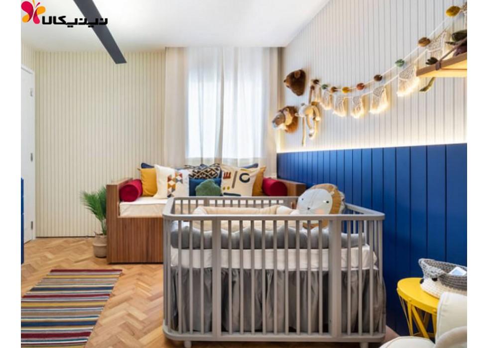 تخت خواب نوزاد چوبی آمیساچوب مدل نیکولا