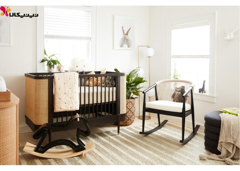 سرویس خواب چوبی نوزاد آمیساچوب مدل اوتانا