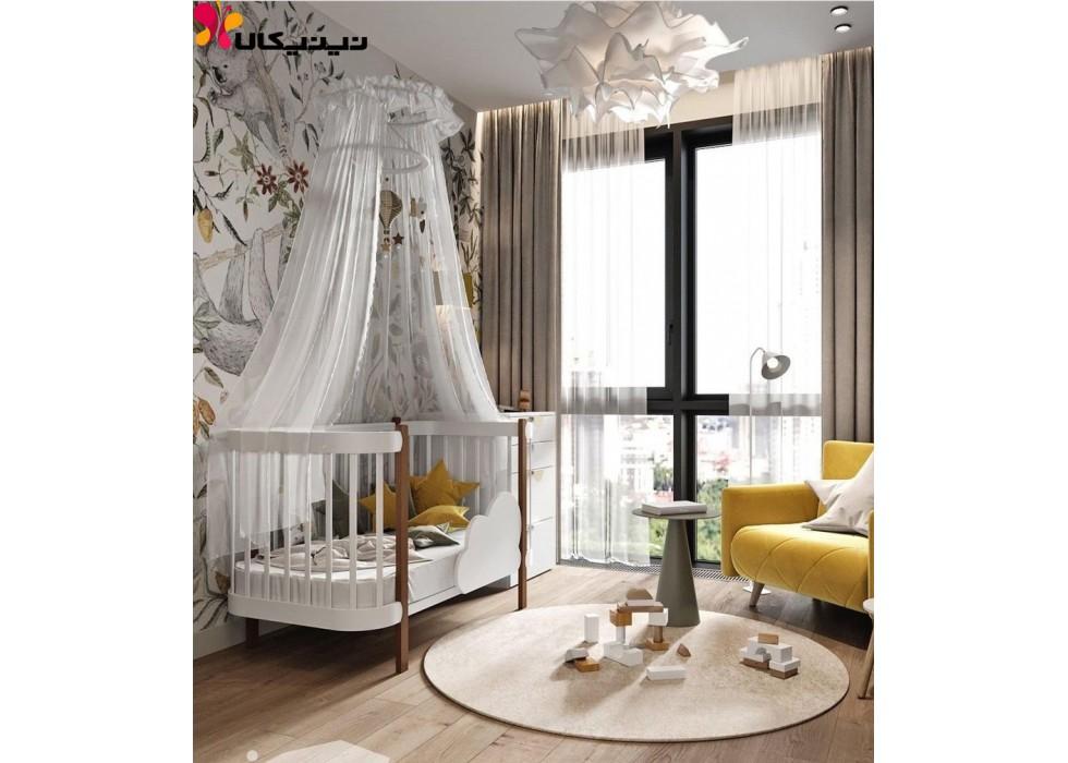 تخت چوبی نوزاد آمیساچوب مدل کلارا