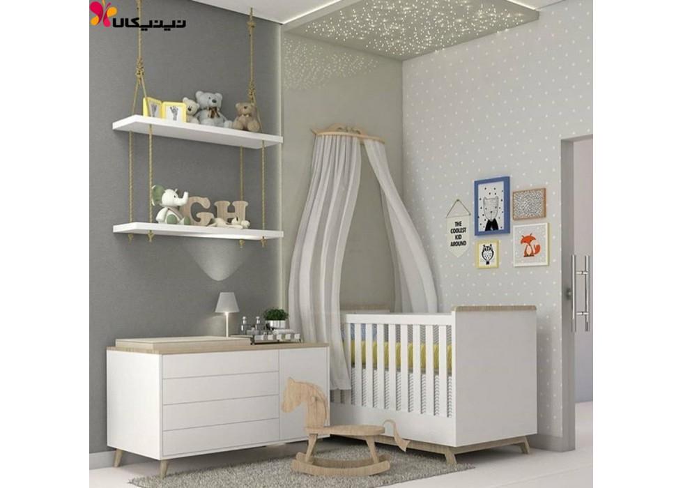 تخت و دراور نوزاد آمیساچوب مدل دلانا