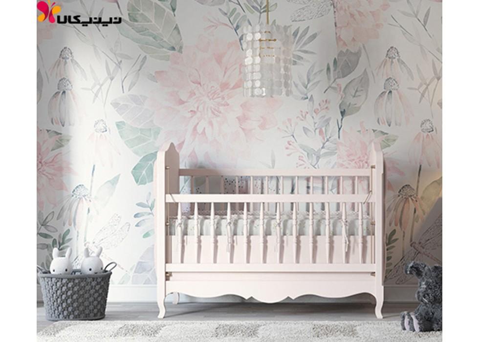 تخت خواب چوبی نوزاد آمیساچوب مدل گالریا