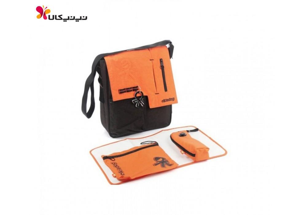 ساک لوازم 4 تکه نارنجی مشکی برند اوکی داگ-Okiedog  کد24219