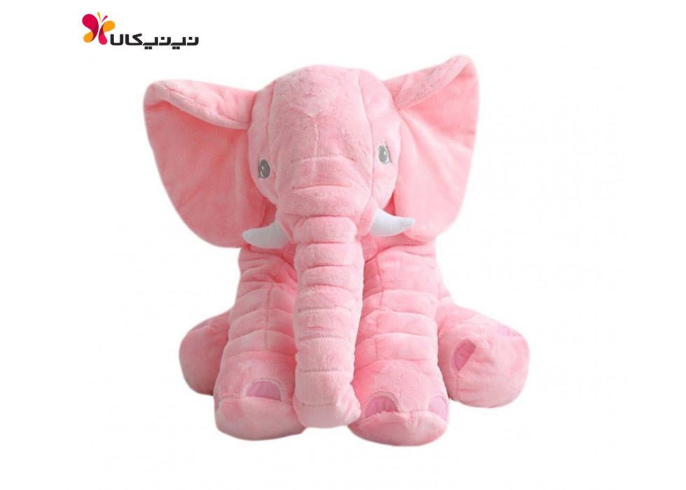 فیل بالشتی بازی و خواب نوزاد سایز بزرگ صورتی