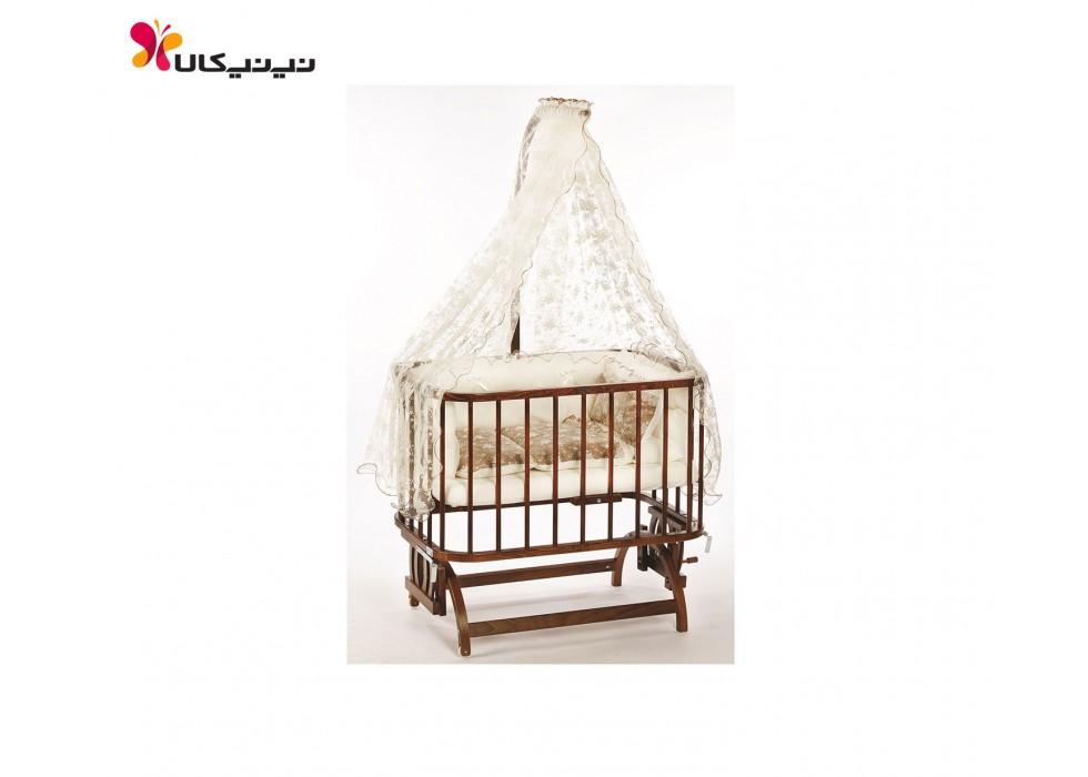 تخت نوزاد کنار مادر بی بی تچ BabyTech کد 101 توری طرح دار