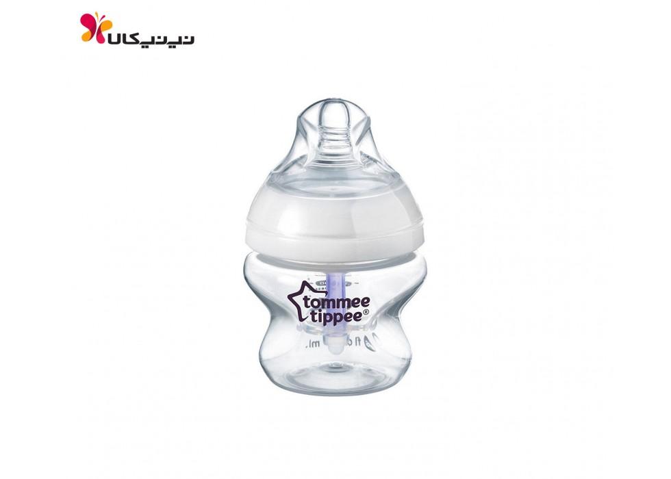 شیشه شیر 150میل  سوپاپ دار تامی تیپی-tommee tippee سایز 0+ماه