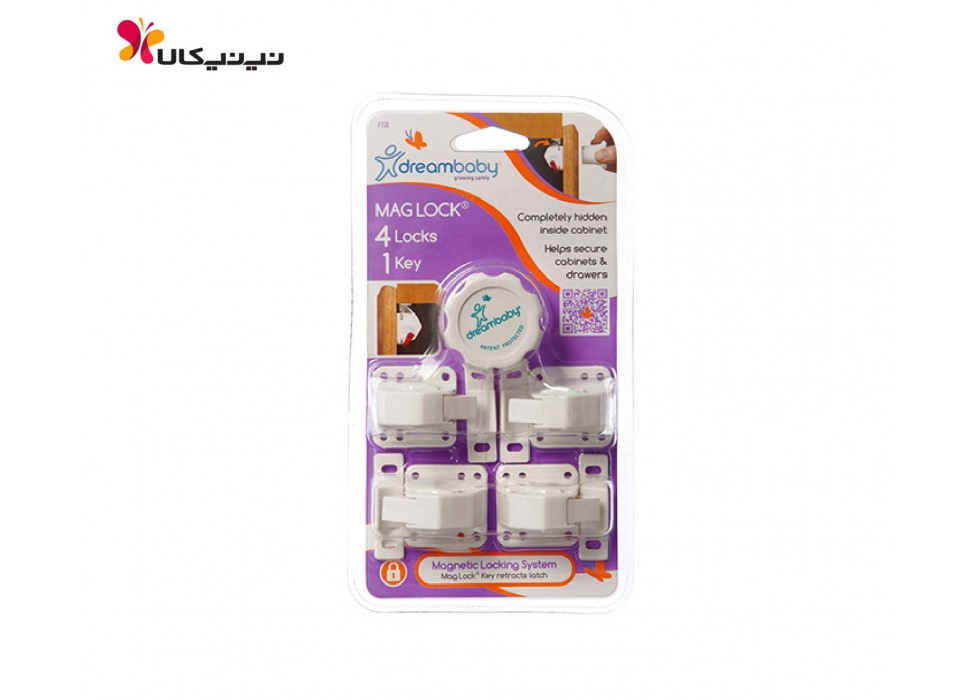 قفل کابینت کودک مگنتی دریم بی بی-4DreamBaby عددی کد F150
