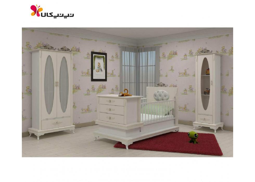 سرویس خواب، تخت و کمد نوزاد نوجوان مدل آنجل-anjel |