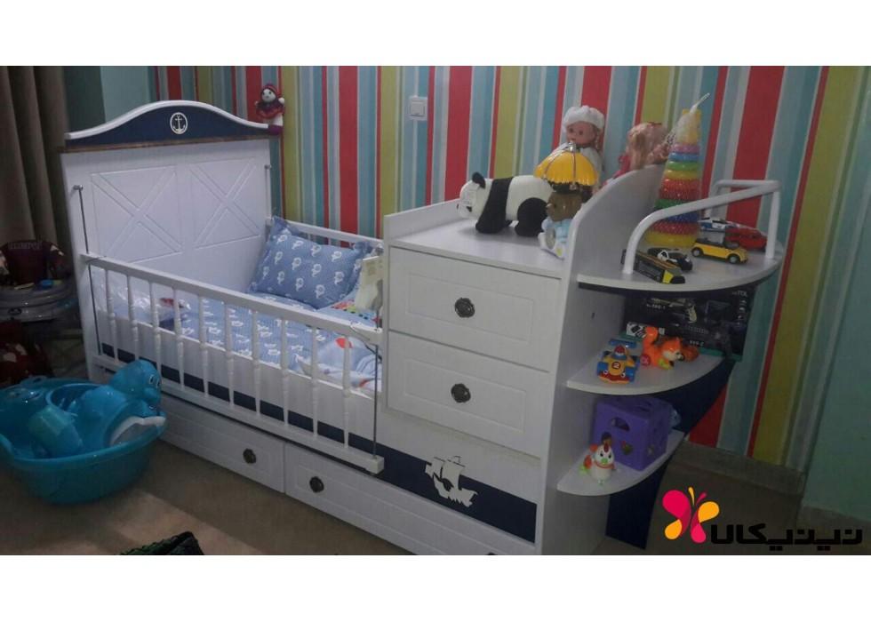سرویس خواب، تخت و کمد نوزاد نوجوان مدل ملوان جدید